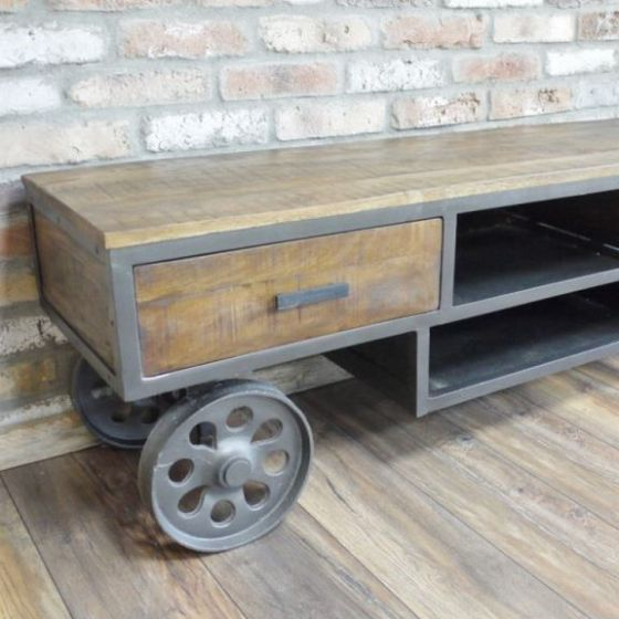 Industrial Cart TV Unit - Special Order